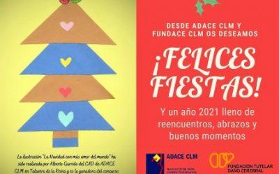 Desde FUNDACE CLM os deseamos Felices Fiestas y que 2021 sea un año cargado de buenos momentos, cercanía y abrazos