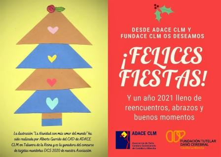FUNDACE CLM desea a la familia del Daño Cerebral unas Felices Fiestas y un maravilloso 2021