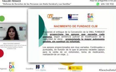 FUNDACE CLM expone sus buenas prácticas en un Taller sobre Defensa de Derechos organizado por FEDACE